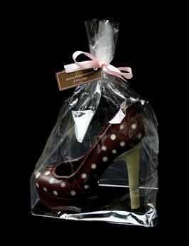 Schokoladen Stiletto gross mit Plateausohle