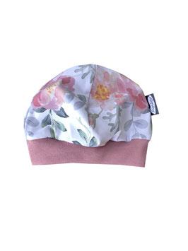 Mütze Flowers weiß