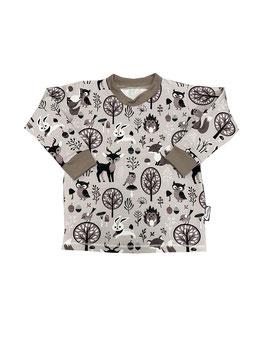Shirt Waldtiere grau Neu