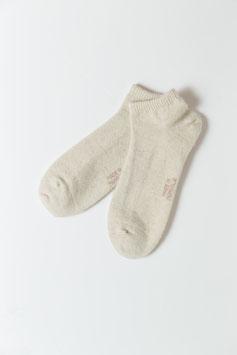 ひつじウール100% (ナチュラルホワイト薄手・スポーツ)  Sheepwool socks 羊毛靴下 保温性抜群・蒸れない・あったか!