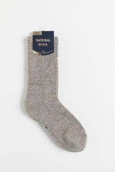 ひつじウール100% (ナチュラルライトブラウン厚手)  Sheepwool socks 羊毛靴下 保温性抜群・蒸れない・あったか!