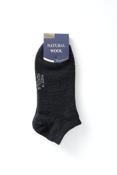 ひつじウール100% (黒薄手・スポーツ)  Sheepwool socks 羊毛靴下 保温性抜群・蒸れない・あったか!