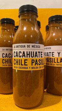 SALSA CACAHUATE Y CHILE PASILLA
