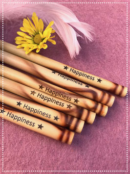 "6er Set Bamboo Strohhalm ""Happiness"""