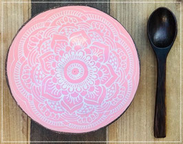 Set Coconut Bowl boho rose chic + Coconut Spoon