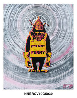 Not Banksy Realisation -  It's Not Funny (COVID-19 / 5G / CONSPIRACY CHIMP)