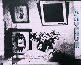 The Real Not Banksy Front: Deathbed of Not Not Banksy