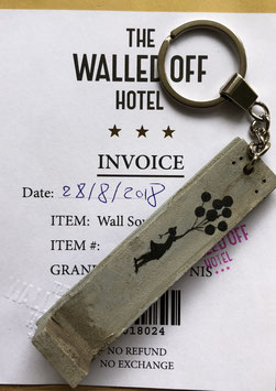 Banksy - The Walled Off Hotel Keychain (Girl with Balloons)