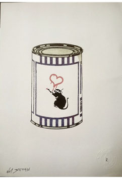Not Banksy -  Love Rat