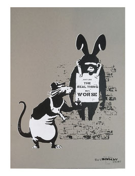 The Real Not Banksy Front: Like the real thing but worse