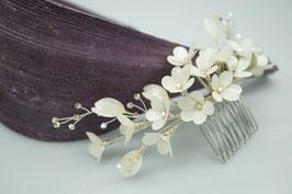 Gänseblümchen Haarkamm, creme-weiß