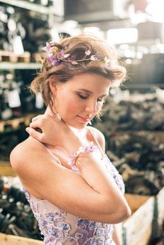"""Hortensien-Armband, """"Sweet Violet"""""""