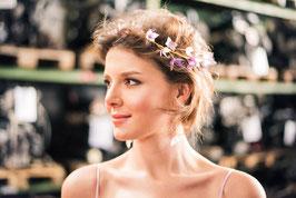 "Hortensien-Haarkamm, ""Sweet Violet"""