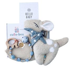 """cuBe-box """"little Baby"""" mit  BAMBI Spieluhr"""