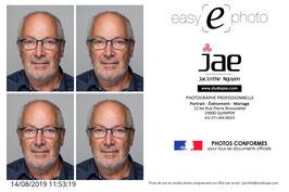 Photo d'Identité (Normes ISO/IEC 19794-5-2005) 20€