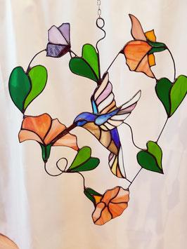 Glas in lood raamhanger Kolibrie 'Joyce'