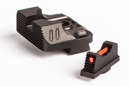 ZEV Technologies Sight Set - .215 Fiber Optic Front Sight / Rear Combat v3 Black codice 372259