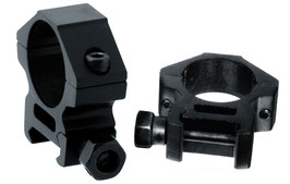 Anelli UTG Accushots Anelli diametro da 25mm e attacco da 22mm Bassa altezza RGWM-25L2