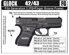 Decal Grip per Glock 42/43