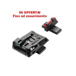 Beretta Set Mira Regolabile e Mirino Fibra Ottica APX E01805