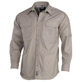 """Camicia """"Strike"""" khaki  ripstop a maniche lunghe in teflon 02323F"""