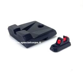 CZ Mirino in Fibra Rossa e Tacca di Mira Nera per CZ P10C TR-1 Upgrade codice: 1000015/04