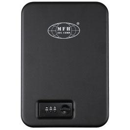 Cassetta di sicurezza nera, in metallo, con serratura a combinazione codice: 27171