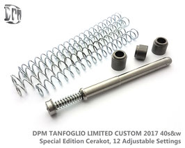 DPM TANFOGLIO LIMITED CUSTOM 2017 40s&w Special Edition Cerakot, 12 Adjustable Settings