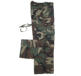 Pantaloni in Nylon e Cordura Woodland US army