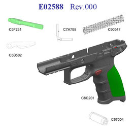 Beretta APX Grip Frame Safety KIT SICURE SU FUSTO PER MODELLO APX FULL SIZE cod E02588