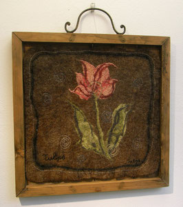 Textielpaneel Tulp