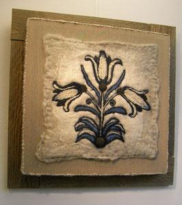 Textielpaneel 3 tulpen