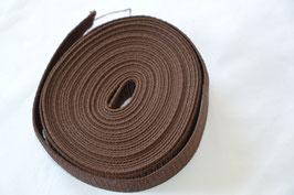 Gurtband 40 mm Braun