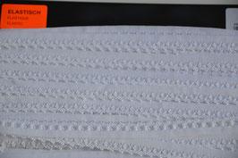 Elastische Rüschen, 13mm, Weiß