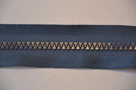 Reißverschluss, teilbar, 70cm, Farbre: Grau