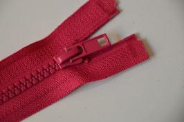 Reißverschluss, teilbar, 50cm, Farbe: Pink