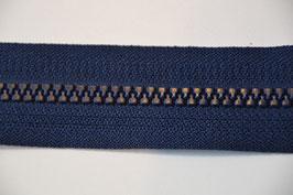 Reißverschluss, teilbar, 80cm, Farbe: Marine