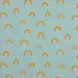 Regenbogen in leicht Mint