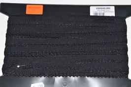 Elastische Rüschen, 13mm, schwarz