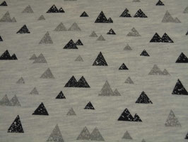Grauer Sweat mit Motiv Dreieck.