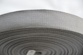 Gurtband Mittelgrau 30mm