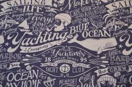Maritimer Taschenstoff Seebär