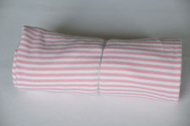 Bündchen in Rosa/Weiß gestreift