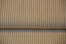 Baumwolle Webstreifen in der Farbe: Ochre