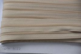 Enlosreisverschluß insklusiv 3 Zipper Farbe: Beige