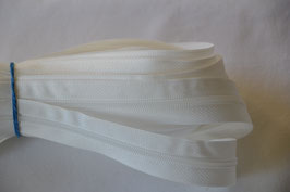 Endlosreißverschluss Insklusiv 3 Zipper Farbe: Weiß
