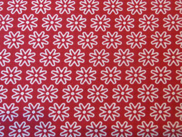 Blumenmuster in Dunkel Rot