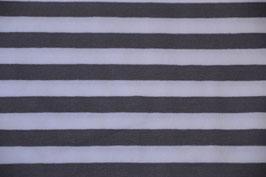 Streifen Jersey in Grau/Weiß