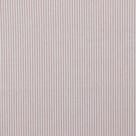 Baumwollstoff mit Rosa/Weißen gewebten Streifen