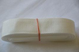 Gurtband 40mm Weiß